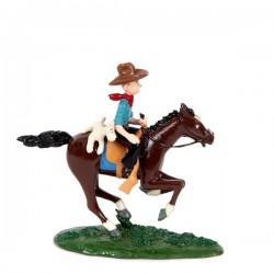 Pixi Moulinsart Tintin - Tintin cow-boy et Milou à cheval