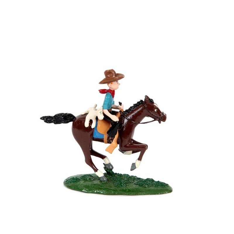 Pixi Moulinsart Tintin - 3ème série - Tintin cow-boy et Milou à cheval