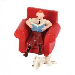 Pixi Moulinsart Tintin - 2ème série - Tintin dans le fauteuil avec Milou