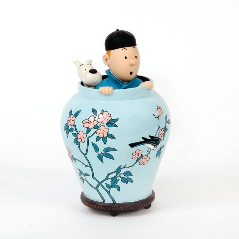 Figurine Moulinsart Tintin - Potiche Lotus Bleu 16 cm
