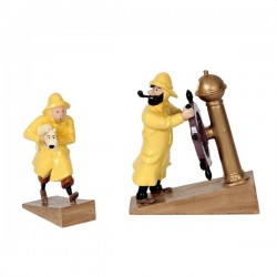 Pixi Moulinsart Tintin - Tintin ciré et Haddock barre