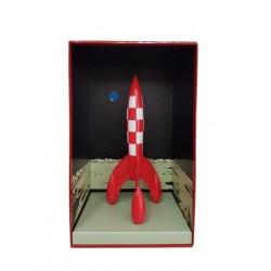 Véhicule Moulinsart Tintin - Fusée 35 cm boîte décor (V2)