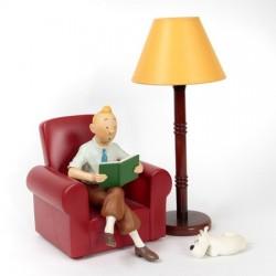 Pixi Moulinsart Tintin - Tintin lisant dans son fauteuil Regout