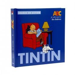 Livre Moulinsart Tintin - Images en action : je découvre les lettres