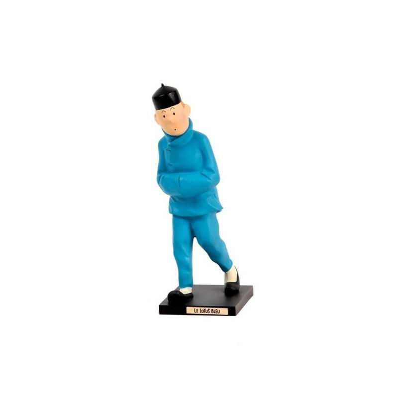 Leblon Moulinsart Tintin - Tintin Lotus Bleu (Coll. 15cm)