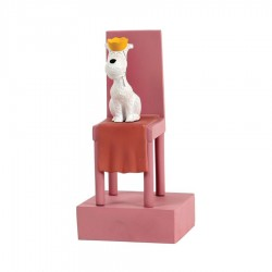 Leblon Moulinsart Tintin - Milou trône Congo (Coll. 15cm)