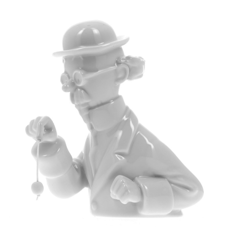Figurine Moulinsart Tintin - Buste porcelaine Tournesol au pendule (Brillant)