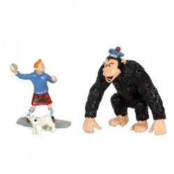 Pixi Moulinsart Tintin - Collection Classique - Tintin et gorille Ranko