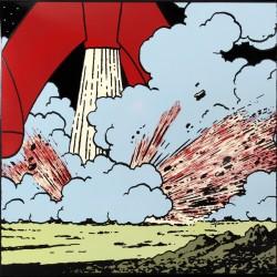 Plaque émaillée Tintin - Lune 35x35 : Tuyaire de la Fusée