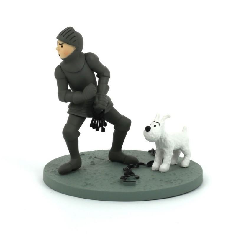 Figurine Moulinsart Tintin - Diorama Tintin en armure