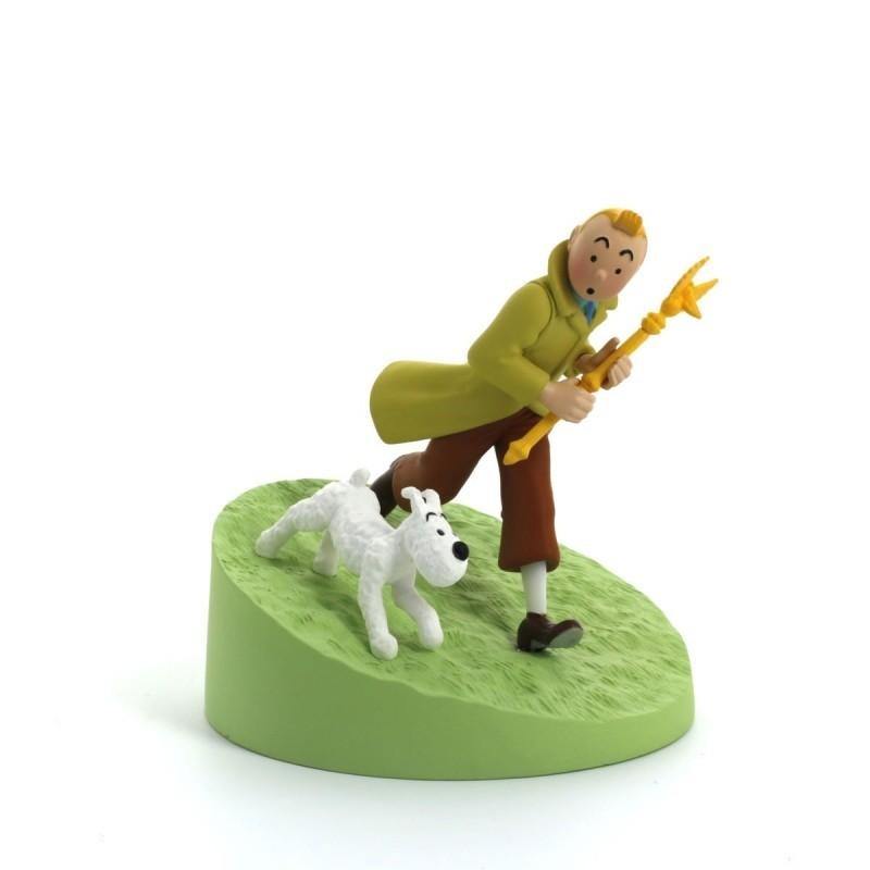 Figurine Moulinsart Tintin - Diorama Tintin sceptre