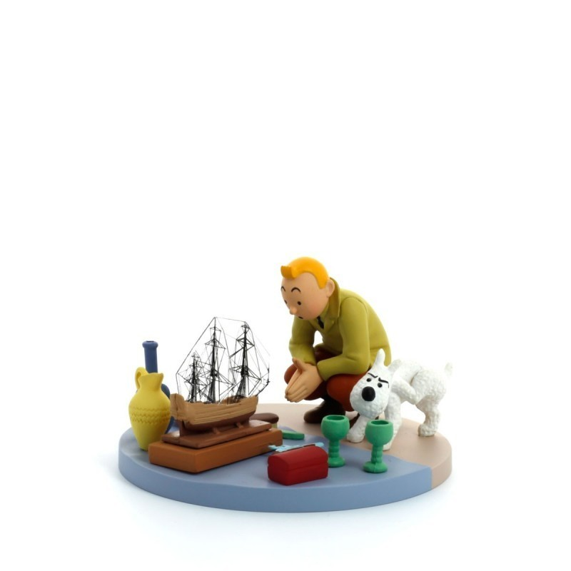 Figurine Moulinsart Tintin - Diorama Tintin Marché aux Puces