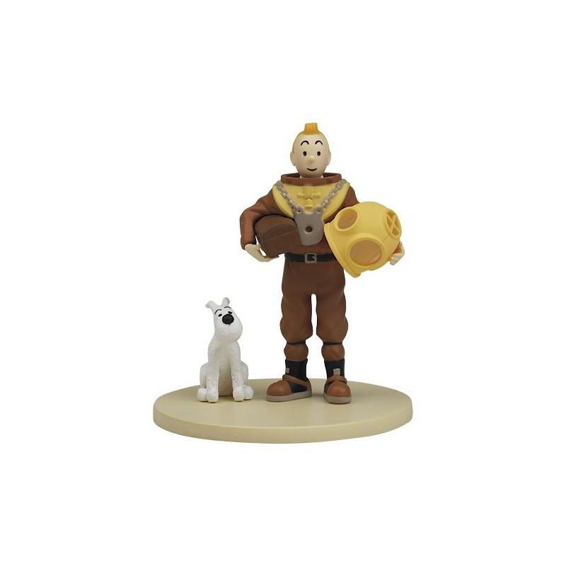 Figurine Moulinsart Tintin - Diorama Tintin scaphandre