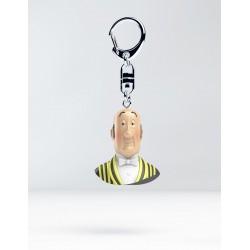 Figurine Moulinsart Tintin - Buste Porte-clés PVC Nestor