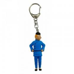 Figurine plastique Tintin - Tintin Lotus 9 cm (Porte-clefs)
