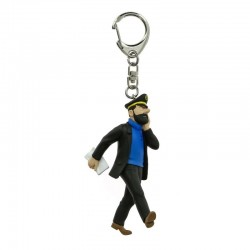 Figurine Moulinsart Tintin - Haddock journal 10 cm (Porte-clefs)
