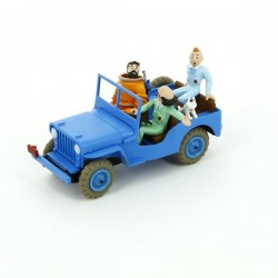Voiture Moulinsart Tintin - Jeep Bleue CJ2A (Coll. Atlas)