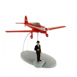 Avion Moulinsart Tintin - Fig 08 Avion rouge + Dupont