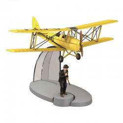 Avion Moulinsart Tintin - Fig 11 Biplan d'acrobaties jaune + Dupond
