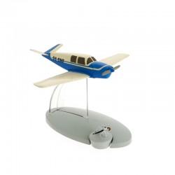 Avion Moulinsart Tintin - Fig 19 Avion bleu des kidnappeurs + Milou