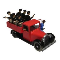 Voiture Moulinsart Tintin - Camion rouge Amérique (Coll. Atlas)