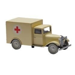 Voiture Moulinsart Tintin - Ambulance de l'asile (Coll. Atlas)