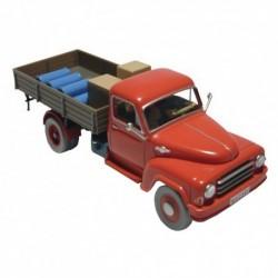 Voiture Moulinsart Tintin - Camion rouge Ile Noire (Coll. Atlas)