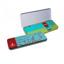 Papeterie Moulinsart Tintin - Boîte de 8 crayons HB (Turquoise)
