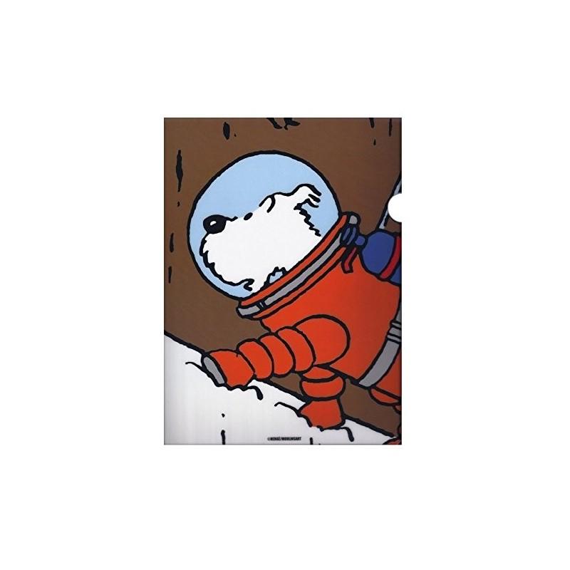 Papeterie Moulinsart Tintin - Chemise plastique A4 Milou lune