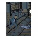Papeterie Moulinsart Tintin - Chemise plastique A4 Lotus Tintin et Tchang