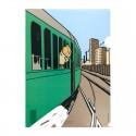 Papeterie Moulinsart Tintin - Chemise plastique A4 Amérique Train