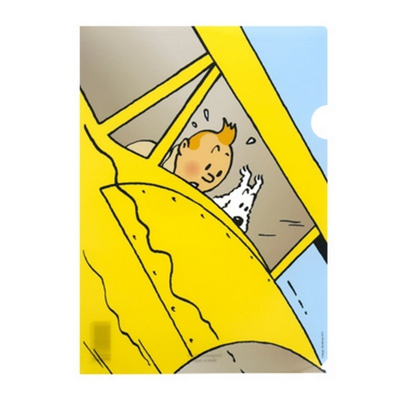 Papeterie Moulinsart Tintin - Chemise plastique A4 Crabe Hydravion jaune