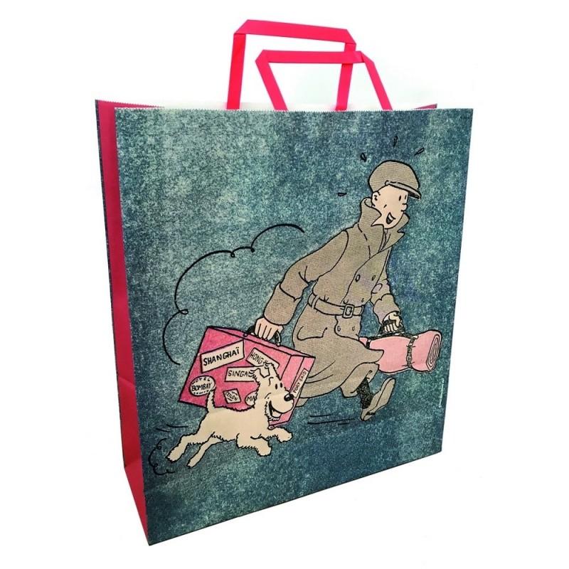 """Papeterie Moulinsart Tintin - Sac papier """"Ils arrivent"""""""