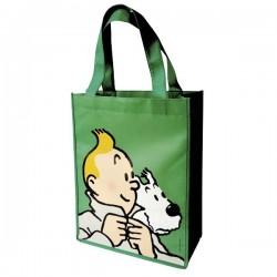 Papeterie Moulinsart Tintin - Sac semi-imperméable vert PM
