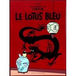 Plaque émaillée Tintin - Le Lotus Bleu 45x61