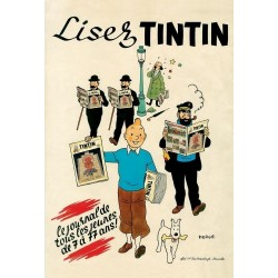 "Poster Moulinsart Tintin - ""Lisez Tintin"""