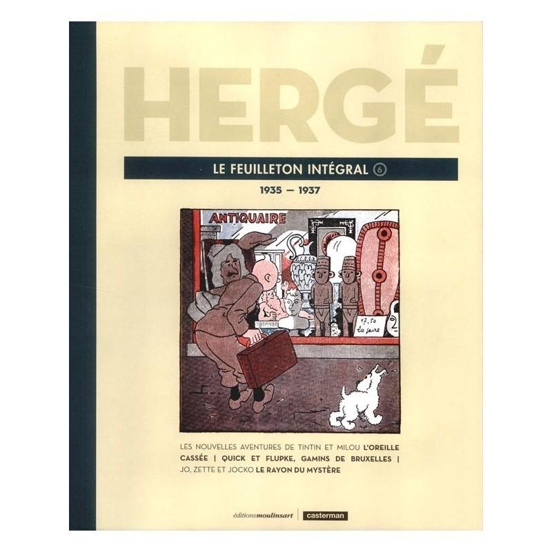 Livre Moulinsart Tintin - Hergé : Le feuilleton intégrale volume 6 1935-1937