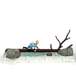 Pixi Moulinsart Tintin - 3ème série - Tintin et Milou traversant la cascade