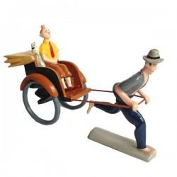 Pixi Moulinsart Tintin - 2ème série - Tintin et Milou dans le Pousse-Pousse (avec sourcils)