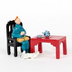 Pixi Moulinsart Tintin - 2ème série - Tintin prenant le thé