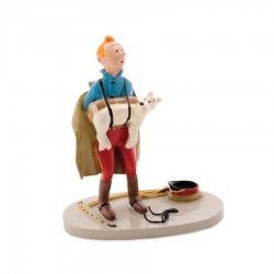 Pixi Moulinsart Tintin - 3ème série - Tintin tenant Milou dans ses bretelles
