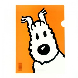Papeterie Moulinsart Tintin - Chemise plastique A4 Milou portrait Orange
