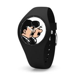 "Horlogerie Moulinsart Tintin - Montre Tintin & Co : Sport Skin Dupond et Dupont ""M"" (Black)"