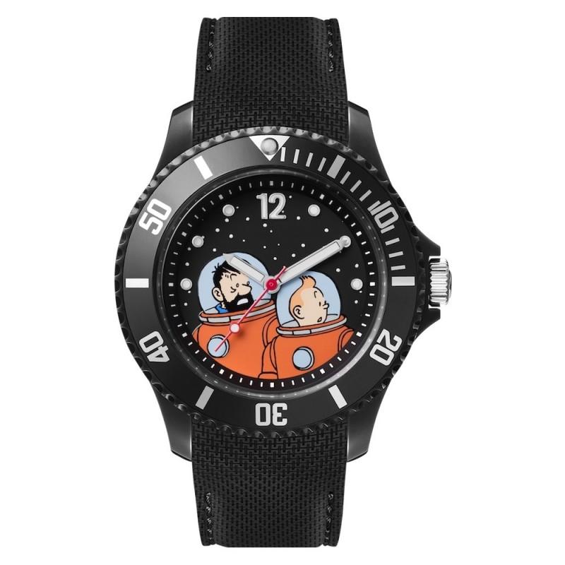 "Horlogerie Moulinsart Tintin - Montre Tintin Lune : Sport Tintin et Haddock ""M"" (Black)"