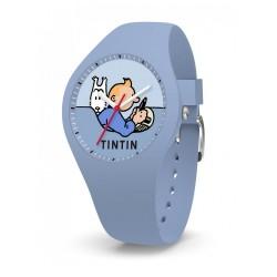 """Horlogerie Moulinsart Tintin - Montre Tintin  Soviet : Sport Skin Voiture """"S"""" (Blue)"""