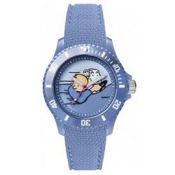 "Horlogerie Moulinsart Tintin - Montre Tintin Soviet : Sport Voiture rapide ""M"" (Blue)"