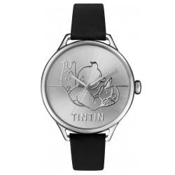 "Horlogerie Moulinsart Tintin - Montre Tintin Soviet : Classic Voiture ""M"" (Silver/Black)"