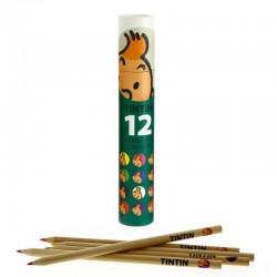 Papeterie Moulinsart - Boîte de 12 crayons de couleur (Verte)