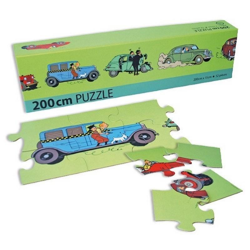 Jeu Moulinsart Tintin - Puzzle 52 pièces Frise Voitures