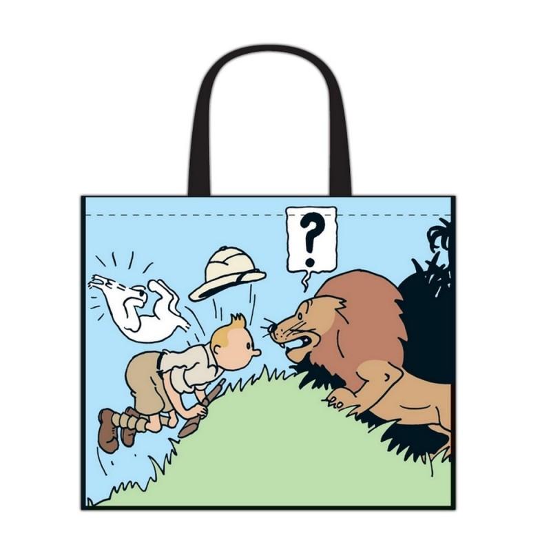 Papeterie Moulinsart Tintin - Sac semi-imperméable Tintin au Congo GM